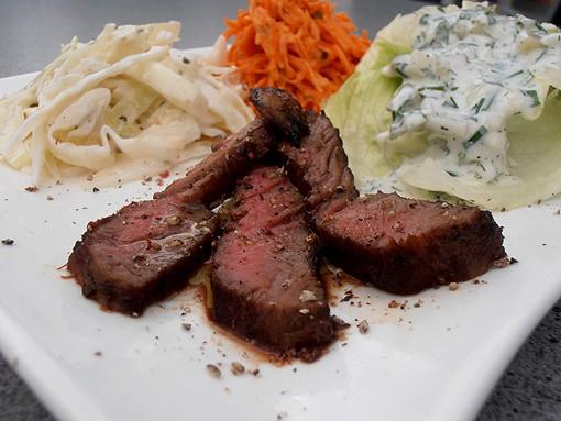 Entrecote für Salat