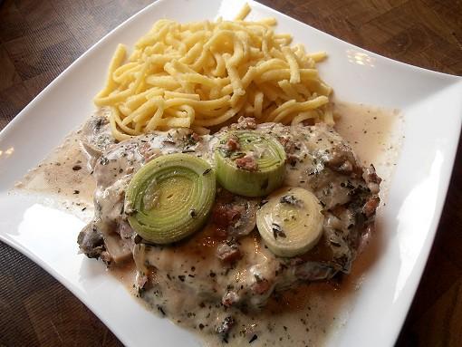 Lauchschnitzel